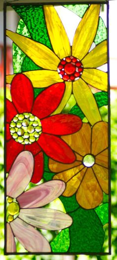 Stained glass Window Panel by JoannePaoneGill on Etsy Stained Glass Cookies, Stained Glass Angel, Stained Glass Ornaments, Stained Glass Flowers, Faux Stained Glass, Stained Glass Projects, Stained Glass Windows, Stained Glass Patterns Free, Stained Glass Designs