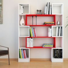 Bookshelves Decorating Ideas for Living Room Book Shelf Decorating Idea & Tip Bookshelves Decorating Ideas for Living Room. If you have bookshelves in your home, and lots of books, you've… Diy Furniture, Modern Furniture, Furniture Design, Bookshelf Design, Bookshelves, Deco Design, Home Projects, Shelving, Room Decor