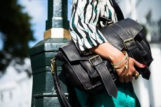 Luxury Black Leather Satchel. Fairtrade.  Handbag. Bag. www.bettyandbetts.com
