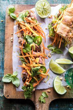 Thai Basil Steak Sandwich | halfbakedharvest.com #Thai #recipes #easy via @hbharvest