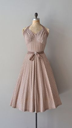 Double Trouble dress / vintage 50s halter dress / by DearGolden