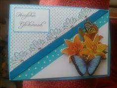 eine klassisch elegante Glückwunschkarte