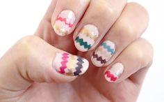 Make This Perfect Chevron Nail Art ==> http://www.craftdiyideas.com/make-this-perfect-chevron-nail-art/