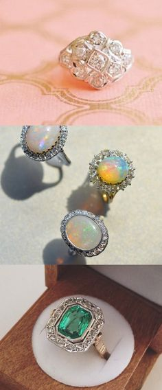 Love the timeless, unique feel of these vintage rings. Opals are one of my favorite and reminds me if my grandmother.