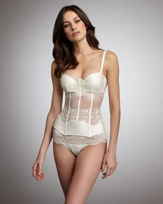 Belle Bustier & Boyshorts Thong by La Perla at Bergdorf Goodman.