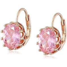 CZ by Kenneth Jay Lane Vintage Gold-Plated Cubic Zirconia Earrings,... ($53) ❤ liked on Polyvore