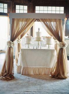 Love! Wedding cake display.