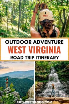 West Virginia belongs on your outdoor adventure bucket list! This 7 day road trip itinerary through the Mountain State will show you everything that West Virginia has to offer, from hiking to white water rafting, rock climbing, mountain biking and more! West Virginia Vacation, Virginia Usa, West Virginia Hiking, Virginia Woolf, Usa Travel Guide, Travel Usa, Weekend Trips, Vacation Trips, Vacations