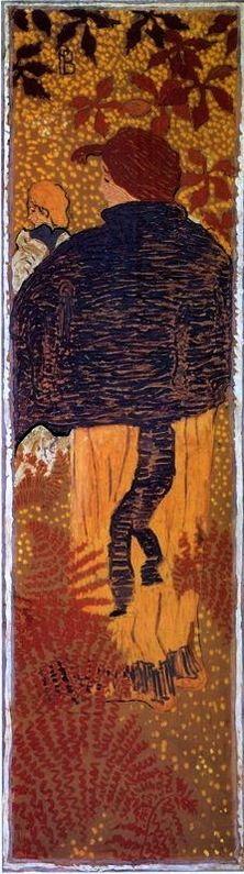 Woman in a Blue Pelerine, Pierre Bonnard, 1892-1898