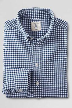 Boys' Long Sleeve Poplin Shirt from Lands' End