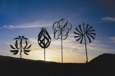 Lyman Whitaker wind sculptures - check him out - I love his sculptures!