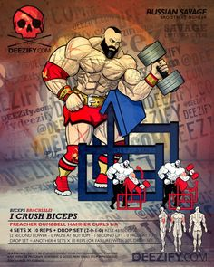 I Crush Biceps || A Russian Savage's Guide to Bicep Curls #zangief #biceps #FlexFriday #ArmDay