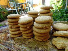 come-se: Biscoitos de farinha de mandioca com coco e amendo...