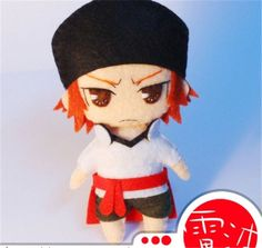 "Cute 4"" Misaki Yata DIY Doll Material key chain Anime K Project Cosplay Prop Toy"