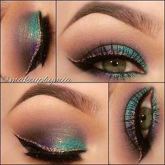 Beautiful Eyes!! (Peacock liners & eye shadow) That's what I call this look! Major Sexy!!