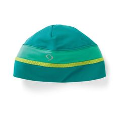 This cozy and colorful beanie from Moving Comfort has a pony tail hole, too--making it perfect for your chilly workouts! | #gift #fitness #accessories #holiday #run