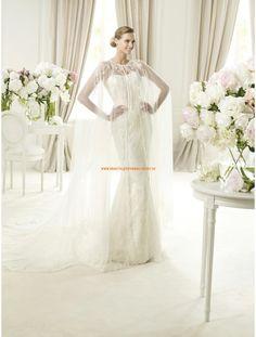 Moderne Brautmode berlin kaufen aus Satin mit Spitze Meerjungfrau