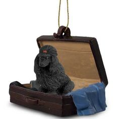 Poodle Black Dog Breed Tag Along Carrycase Ornament
