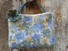 "Nuno-Felted bag ""Spring"" 