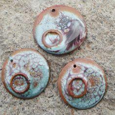 Beautiful enameled copper charms/pendants from artisanbeadsplus on etsy