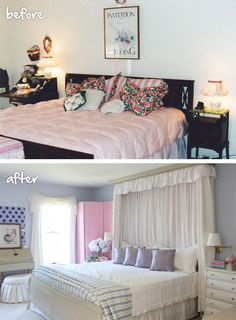 Before and After room transformations over at MyColortopia.com.