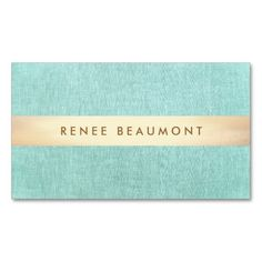 Simple Gold Striped Turquoise Blue Business Card Templates. Great card for interior designers, event planners, beauty consultants, hair salons, fashion boutiques and more. Fully customizable and ready to order. customizable business cards | cheap business cards | cool business cards | Business card templates | unique business cards