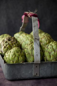 And it just happens I have some pretty ones in my fridge right now! Love artichokes!