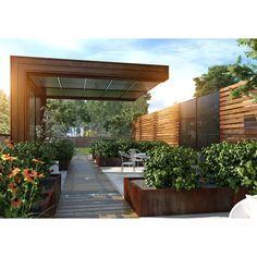 Modern Landscaping, Backyard Landscaping, Modern Pergola, Modern Backyard Design, Modern Outdoor Living, Modern Landscape Design, Backyard Designs, Landscaping Ideas, Backyard Ideas