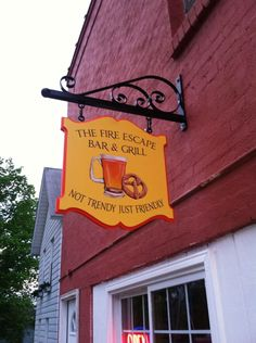 Pub Signs, Home Signs, Metal Signs, Wooden Signs, Bakery Shop Interior, Blade Sign, Old Pub, Wooden Posts, Fire Escape