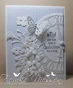 kaartenknutsels van femke: white condolence card