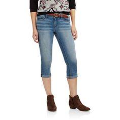 e12d713232 Faded Glory Women's Belted Denim Capri, Size: 16, Gray Walmart Clearance,  Faux