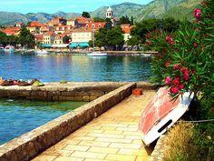 Scenic harbour by Marite2007, via Flickr ~ Cavtat, Southern Dalmatia, Croatia