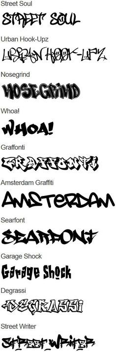Graffiti Fonts #graffiti More
