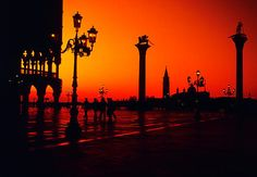 Sunset, Piazza San Marco, Venice, Italy  photo from larryjw