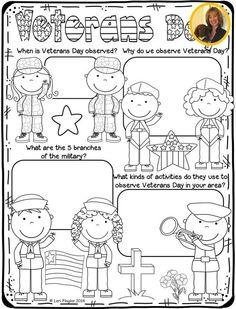 This is an adorable poster for your students to color while learning about Veterans Day. When Is Veterans Day, Free Veterans Day, Veterans Day Activities, Math Activities, Kindergarten Social Studies, Teaching Social Studies, Kindergarten Worksheets, School Classroom, School Fun