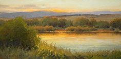 Warmth of Evening by Kim Casebeer Oil ~ 8 x 16