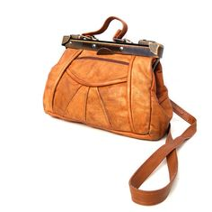 3cdeba66d4 Carine French Vintage Tan Leather Satchel by dandeliondaydreamer. Melissa  Ribinskas · Bag Lady