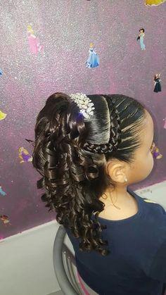 Hair Black Girls Hairstyles Kids 30 Best Ideas - Little black girl hairstyles Kids Braided Hairstyles, Flower Girl Hairstyles, Black Girls Hairstyles, Cute Hairstyles, Girl Hair Dos, Baby Girl Hair, Bun Men, Hairstyle For Wedding Day, Wedding Hair