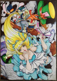 Alice In Wonderland, Artworks, Joker, Facebook, Fictional Characters, The Joker, Fantasy Characters, Jokers, Comedians