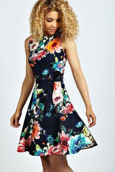 Jennifer Floral Skater Dress