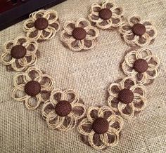 Mini Burlap Daisies Set of 12 Rustic Decor by resadavid on Etsy, $19.95