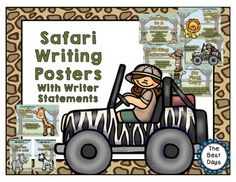 Safari Writing Process Posters This EXPEDITION into writing poster sets lets you and your students understand what the writing processes is AND keep track of where everyone is at the same time.  Each poster can be used as a tracking system by either attaching ribbon onto the poster and using clips with student names on them or use on a white board with magnetic names!