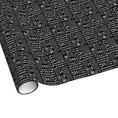 Binary in Black & White Wrapping Paper #geek #nerd
