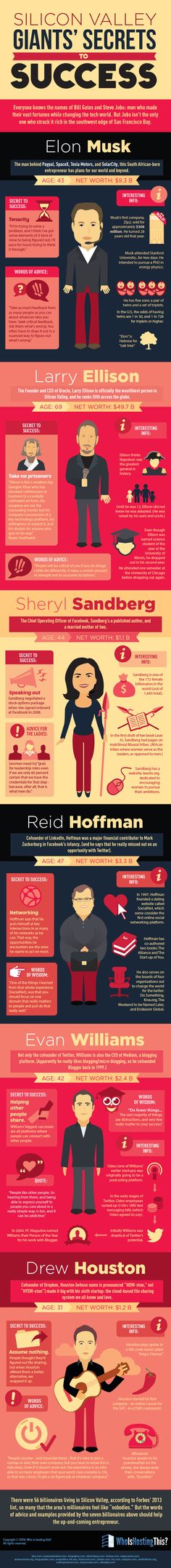 6 Secret Success Stories of Billionaires #Infographic