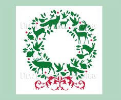 Christmas Wreath Cross Stitch Christmas by NewYorkNeedleworks