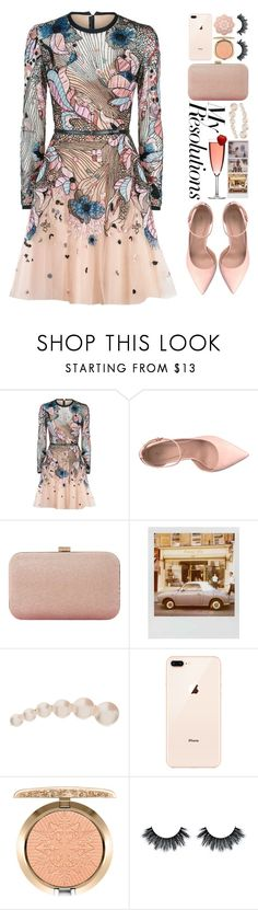 """""""#PolyPresents: New Year's Resolutions"""" by fashiondiaryy ❤ liked on Polyvore featuring Elie Saab, ALDO, Dune, Polaroid, Sophie Bille Brahe and MAC Cosmetics"""