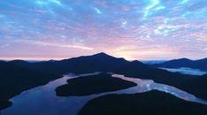 Evening Sunset Mountains Lake