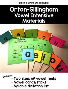 Just print on colorful cardstock, cut, and go! Dyslexia Teaching, Teaching Phonics, Teaching Reading, Phonics Activities, Teaching Resources, Dyslexia Activities, Learning, Tiny Tattoo, Small Tattoos