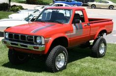 A friend of mine had one in high school. Fun trucks with solid front axles. 79 Toyota pick up