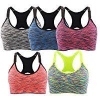 Gray L Women Space Dye Front Zipper Workout Vest Running Yoga Gym Sport Support Fitness Bra